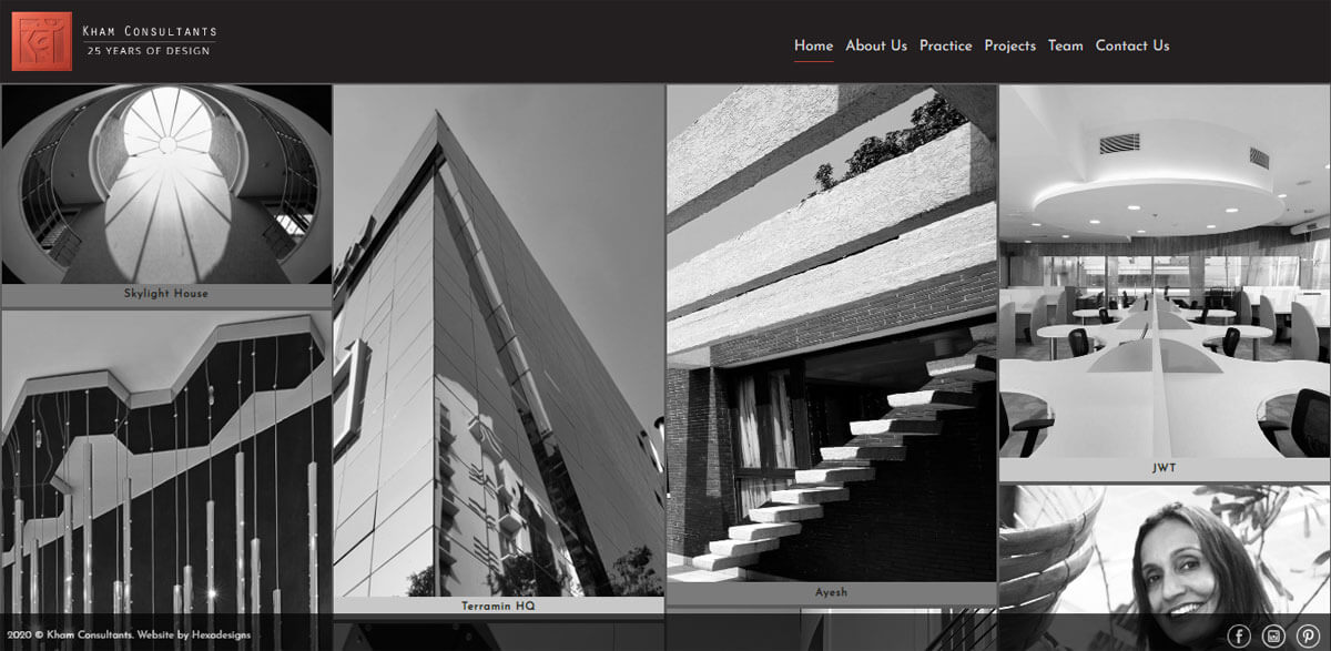 Website design for Leading Architecture Firm